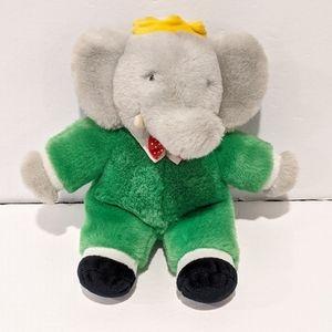 """Kinder Gund Babar elephant baby plush toy 10"""""""